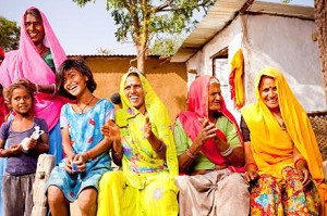 Traditional Rural Indian Family in a village in Rajasthan